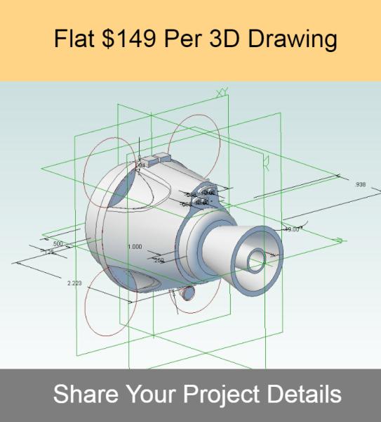 Flat $149 Per 3D Drawing