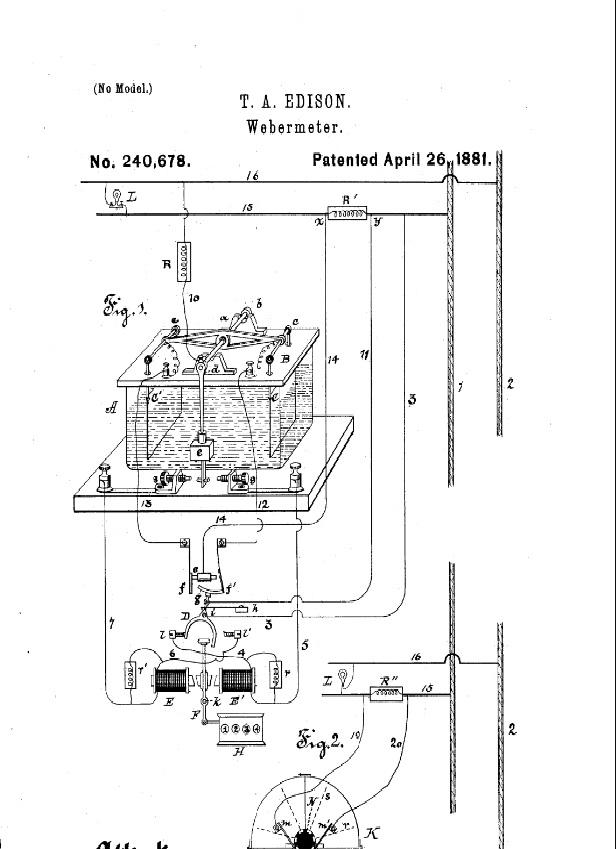 diagrams of edison inventions