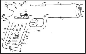 Gun-shaped remote control unit for a television