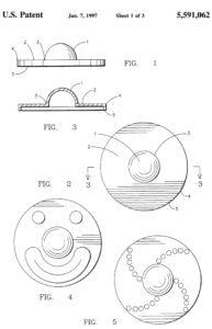 Patent Illustration of a Fidget Spinner