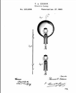 Edisons Electric Bulb