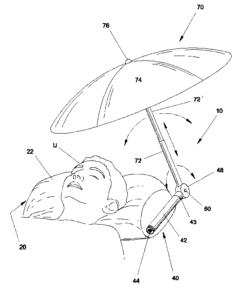 Pillow With Retractable Umbrella