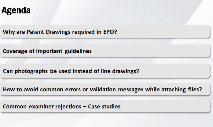 agenda-of-the-webinar-epo-rejections-in-patent-drawings